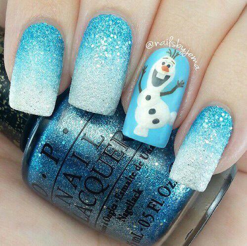 Olaf nails so cute