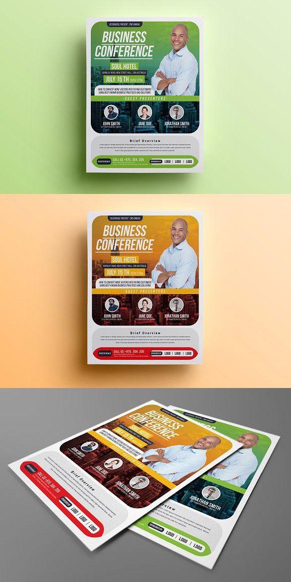 6821 best Flyer Templates images on Pinterest Flyer template - conference flyer template