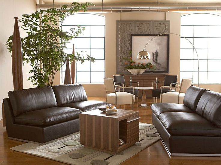 Attractive Amani Loveseats, In Rich Brown Leather Float On Shiny Chrome Bases And Come  Together To · Living SpacesLiving Room SetsLoveseatsThe ...