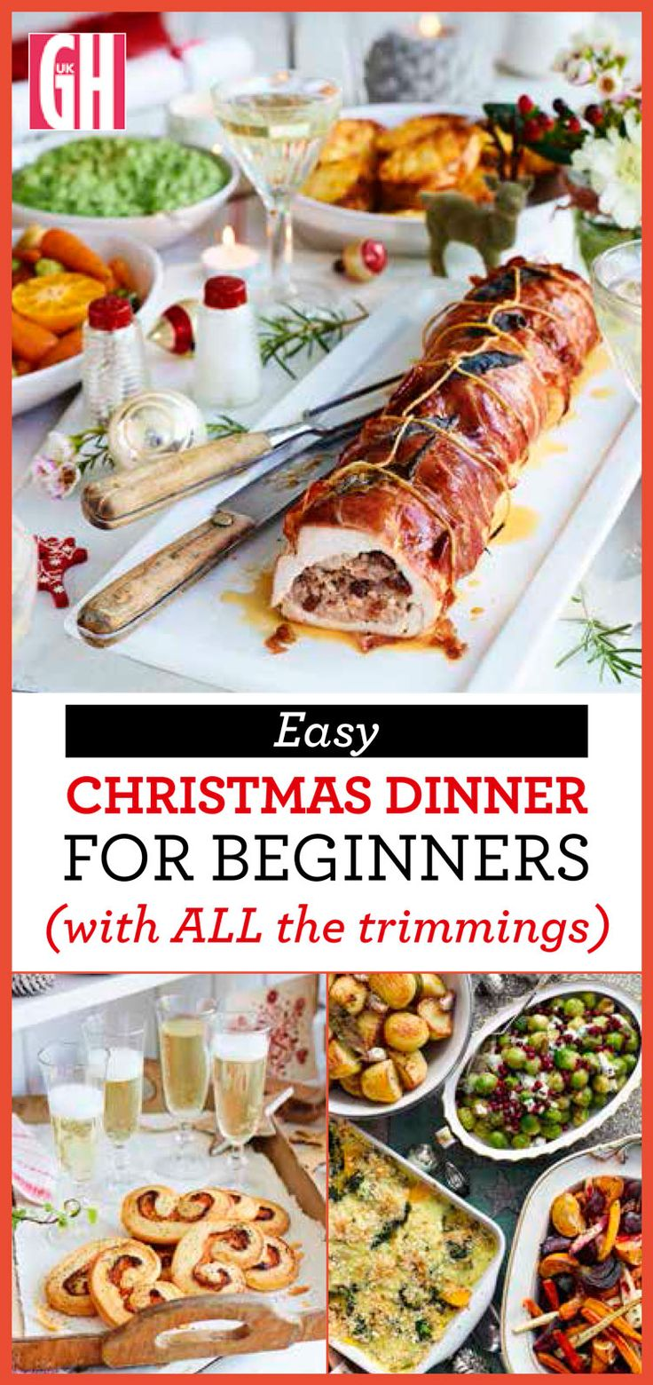 How to cook Christmas dinner from an easy Xmas starter recipe to turkey breast and all the trimmings. Plus a ridiculously easy, festive dessert.