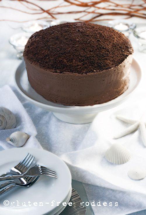 Gluten-Free Chocolate Layer Cake (dairy-free) from Gluten-Free Goddess #glutenfree