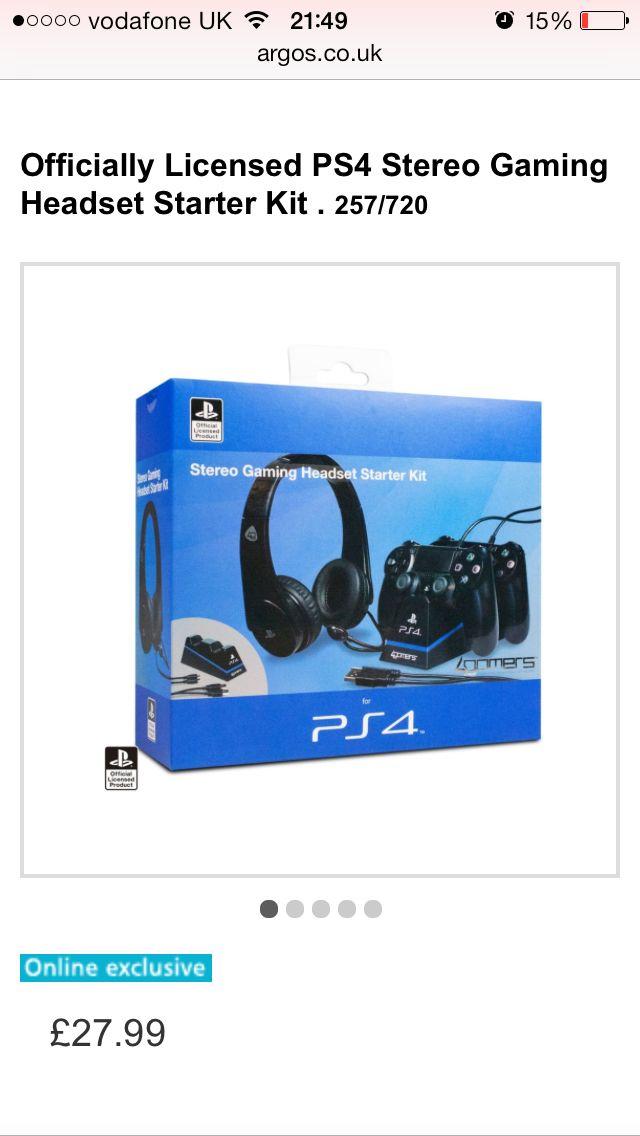 PS4 head set