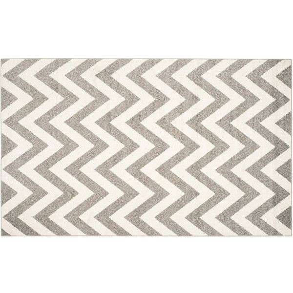 Safavieh Amherst Chevron Stripe Indoor Outdoor Rug 655 Liked On Polyvore Featuring Home