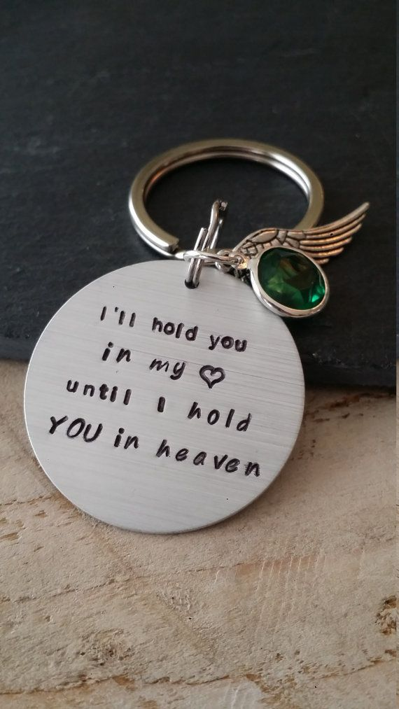 Check out this item in my Etsy shop https://www.etsy.com/ca/listing/286229301/ill-hold-you-in-heaven-keychain-hand