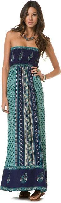ANGIE BLUE PRINT TUBE MAXI DRESS http://www.swell.com/MAXI-Dresses