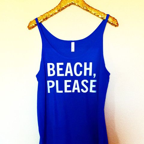 Beach, Please - Slouchy Relaxed Fit Tank - Ruffles with Love - Fashion