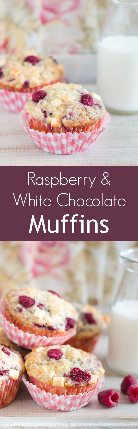 Moist and fluffy raspberry and white chocolate muffins - a heavenly combination!