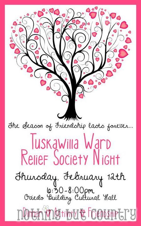 The season of Friendship lasts forever – Relief Society Night