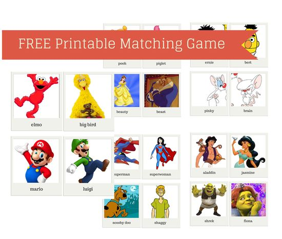 FREE Printable Matching Game