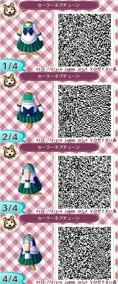 Sailor Neptune Animal Crossing QR Code