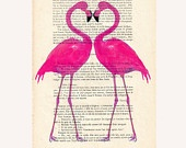 Flamingos: Hands Paintings, Flamingos Heart, Pink Flamingos, Paintings Mixed, Mixed Media, Parisien Magazines, Flamingos Prints, Originals Artworks, Coconut