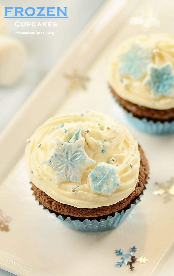 Frozen Cupcakes and Other Party Ideas for a Frozen Themed Party!!! - From Brazil To You