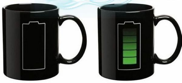 Magic Mug Black Battery buat kamu yang creative - Lampunya menyala setelah terkena air panas :) Harga hanya Rp 86.000