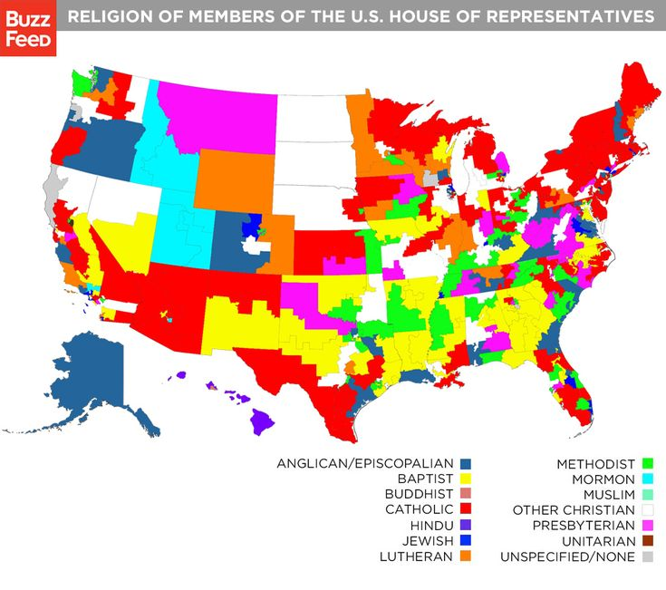 BuzzFeed has mapped out the religions of the 435 members of the U.S. House of Representatives by their districts, according to how they have publicly identified themselves as well as statements their spokespeople have made to BuzzFeed.: Estado Unido, Congress Identifi, Government Maps, Religion Maps, Congress Member, Usa Maps, U.S. States, Interesting Maps, Los Estado
