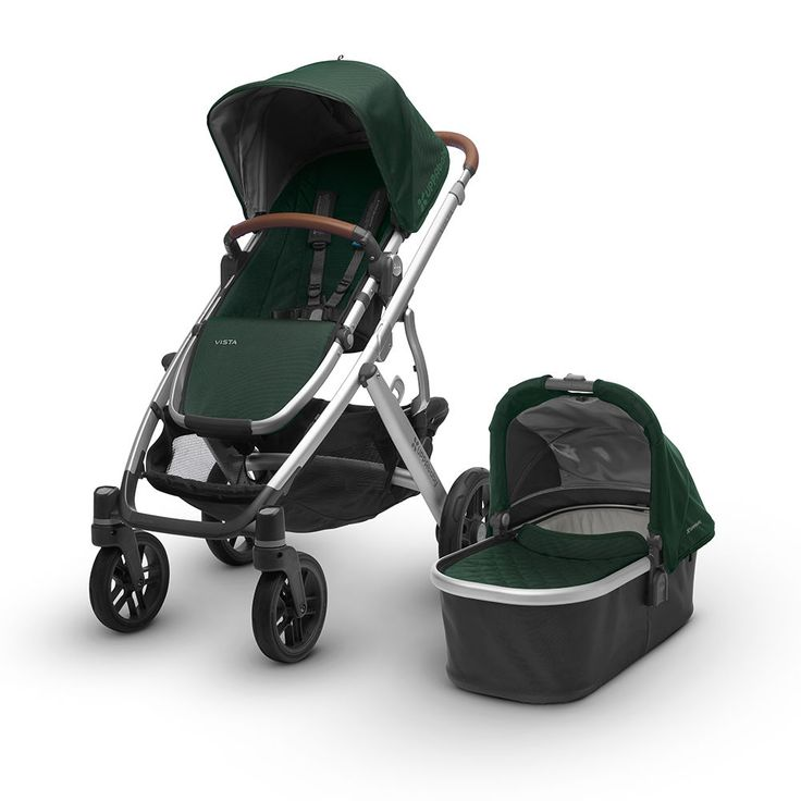 2017 Vista Aluminum Frame Convertible Stroller With Bassinet And Toddler Seat