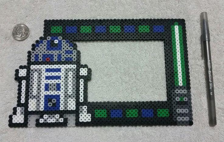 Star Wars R2D2 Photo Frame Hama Beads by PerlerHamaParadise