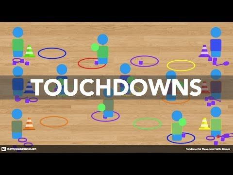 Touchdowns - Physical Education Game (Fundamental Movement Skills) - YouTube