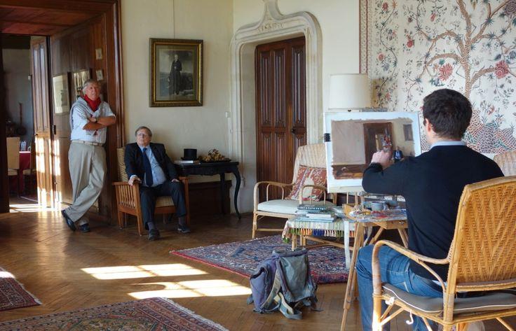 Dans le cadre du Festival Normandie Impressionniste, l'Office de Tourisme proposera cet été de découvrir le regard du peintre Olivier DESVAUX. Il vous invite à faire connaissance avec les femmes et les hommes dont l'activité les lient à la Seine. En attendant l'été, nous vous proposons un avant-goût de l'exposition ! Découvrez Olivier DESVAUX face à ses modèles avant de vous dévoiler l'ensemble des toiles début juillet. Aujourd'hui, Marc et Alain Boudier du Château d'Etelan.