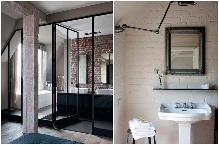1000 id es sur le th me salle de bains brique sur pinterest murs de briques salle de bains et. Black Bedroom Furniture Sets. Home Design Ideas