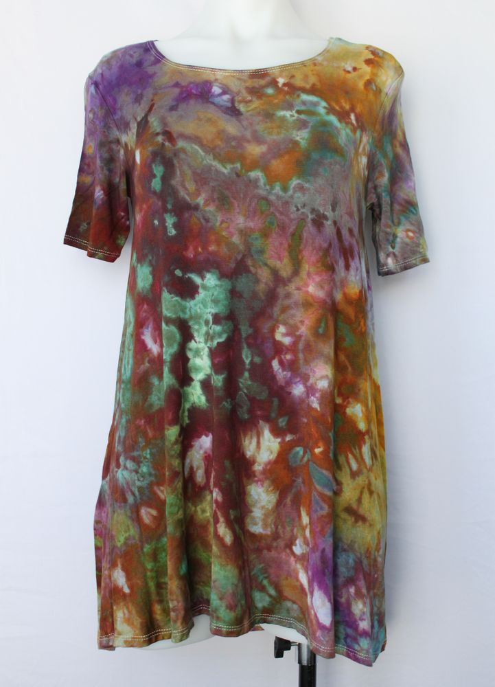 Ladies Small Tunic ice dye - Na's Favorite crinkle by A Spoonful of Colors Find this item on https://aspoonfulofcolors.com
