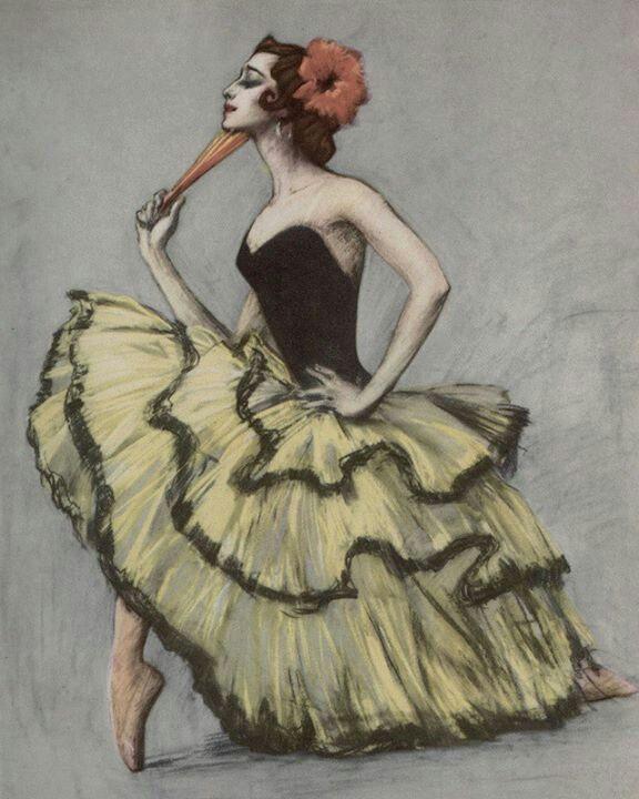 best my illustration melancholy images art 2013 valery kosorukov a plisetakaya as kitri don quixote pastel on