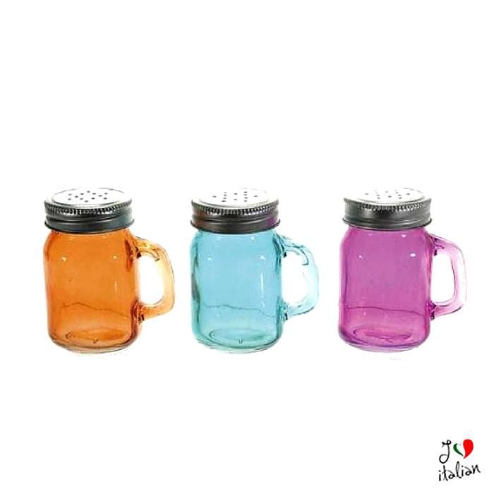 Colorful glass salt pepper shakers - Dining - €3.50