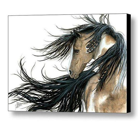 Majestueux chevaux Pinto esprit peinture par AmyLynBihrle sur Etsy