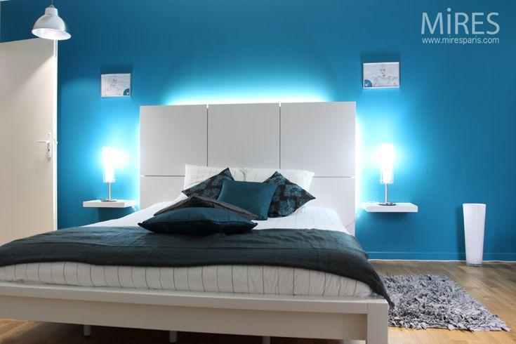 Chambre moderne bleu chambre coucher design design for Chambre a coucher nolte