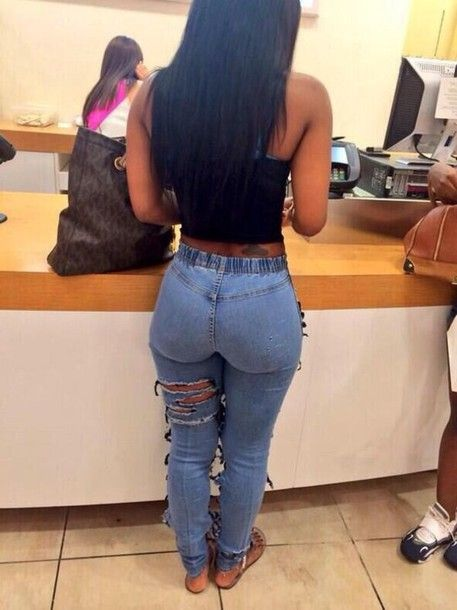 Girls asses in tight jeans