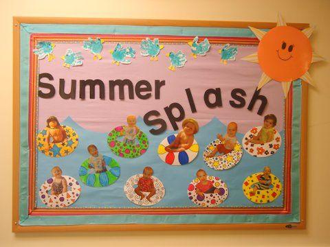 Summer Art Display Board from a Creative Gardner School Teacher