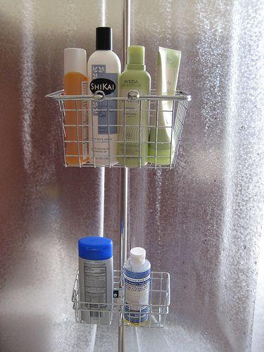 DIY Shower Caddy for Clawfoot Tub
