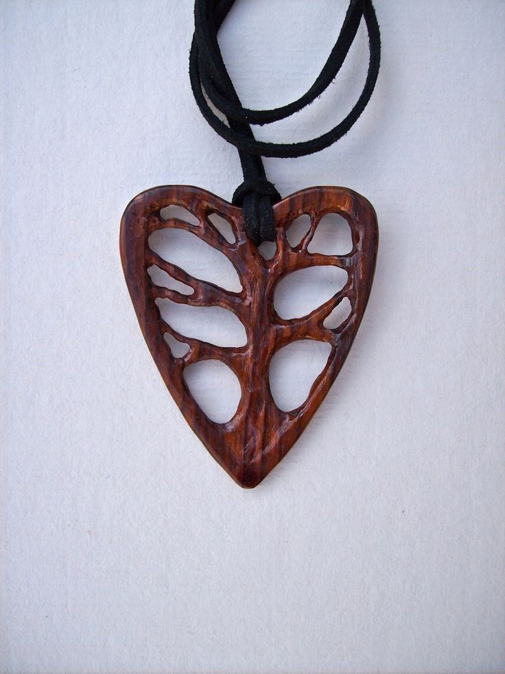 Wood Carved Pendant, Tree of Life Pendant, Wood Jewelry, Cocobolo Wood Pendant…