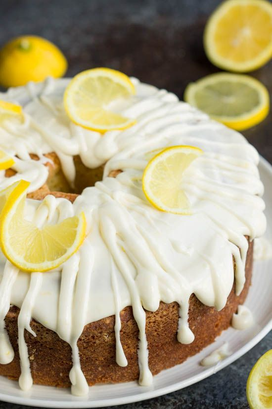 Trisha Yearwoods Lemon Pound Cake with Glaze has just the right amount of tangy lemon flavor. This cake is luscious with a soft and moist texture.