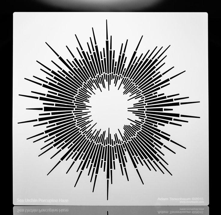 Riccio Porcupine Haze.  Parete / arte / artigianato / pittura / trucco / mobili / tatuaggio / sovrapposizione Stencil aerografo. di OverlayAirStencils su Etsy https://www.etsy.com/it/listing/227421325/riccio-porcupine-haze-parete-arte
