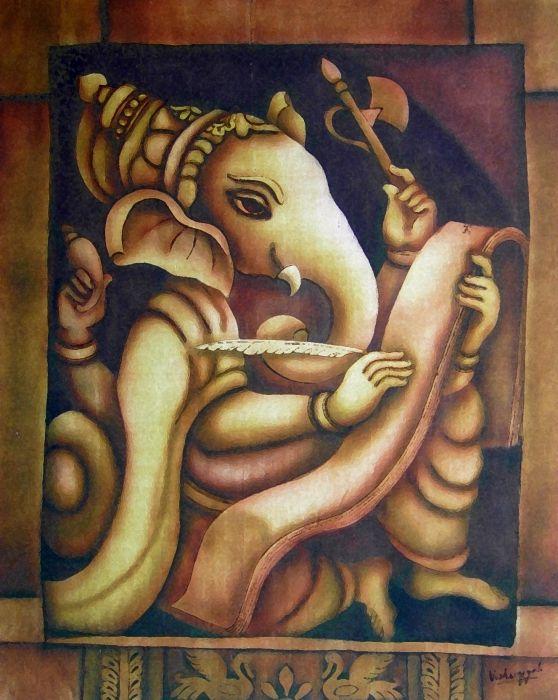 Scholar Ganesh by Vishwajyoti Mohrhoff