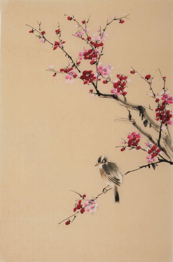Chinese plum blossom painting & Chinese bird painting