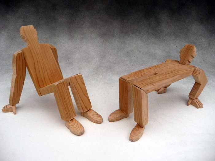 unique wooden furniture. Wood Yoga Chair And Bench - Unusual Furniture Unique Wooden E