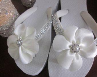 Boda zapatos / Flip Flop/cuñas para las flores por RocktheFlops