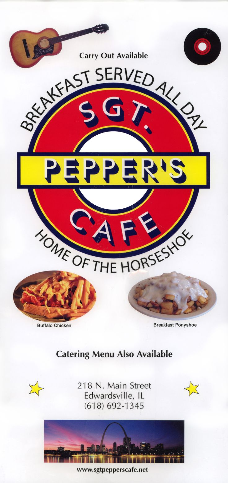 Sgt. Pepper's Cafe Menu