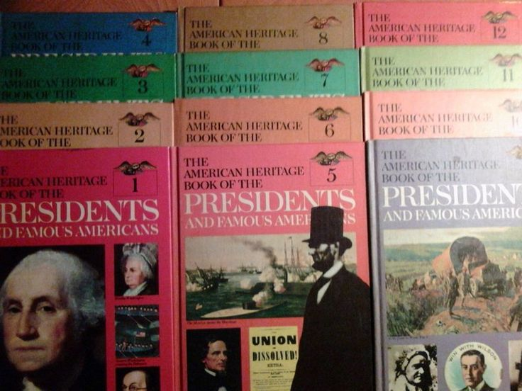 Vtg 1967 HC Lot/12 Vol ~ AMERICAN HERITAGE BOOK OF PRESIDENTS & FAMOUS AMERICANS
