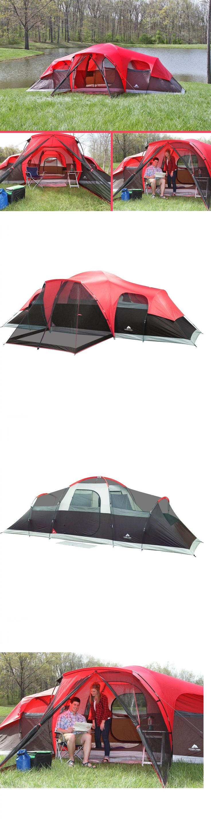 Tents 179010 ozark trail 10 person family tent outdoor camping hiking instant cabin shelter