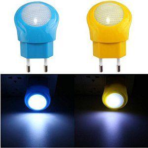 SOLMORE 0.7W Lampe LED Veilleuse Lumineux Français Prise Éclairage Ampoule Urgence pour Bébé,Enfant,Chambre,Chevet dans la Nuit AC 220V…