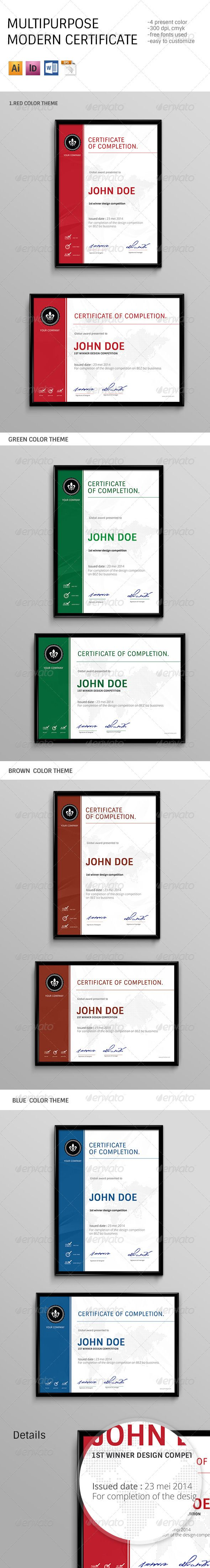 Modern Multipurpose Certificates - Certificates Stationery