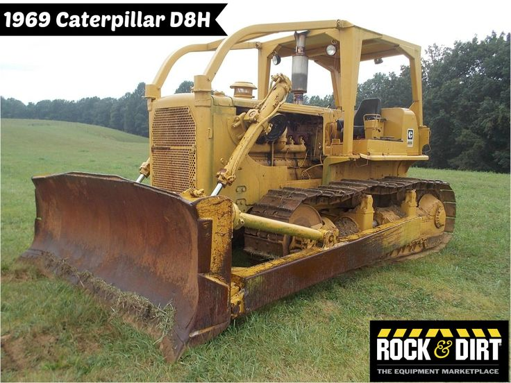 #ThrowbackThursday Check out this 1969 Caterpillar D8H. View more #Dozers at http://www.rockanddirt.com/equipment-for-sale/dozers-crawler-tractors #RockandDirt #tbt #HeavyEquipment