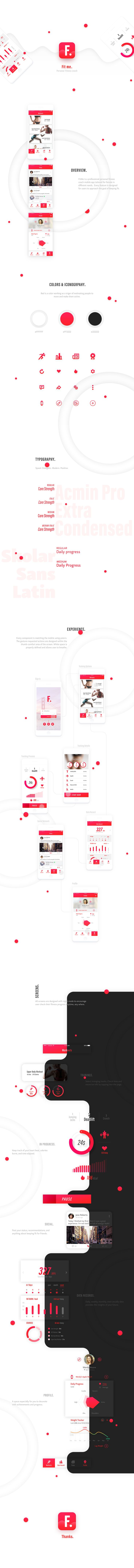 Fit Me mobile app on Behance