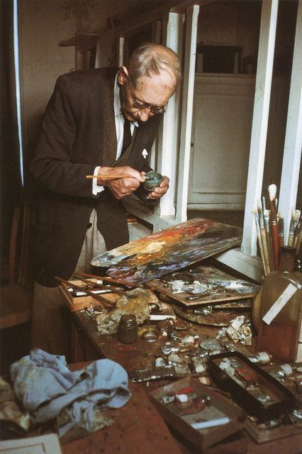 Bonnard mixing his colours