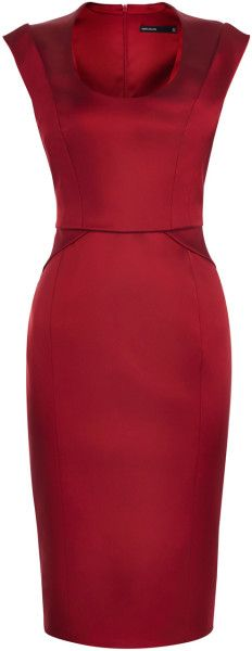 Love this: KAREN MILLEN  Signature Stretch Satin Dress @Lyst