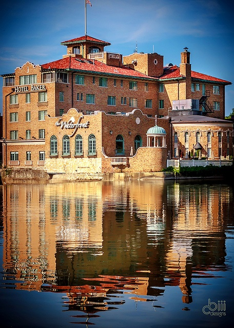 Hotel baker in St. Charles along the Fox river Illinois . We got engaged on the top floor balcony in December of 2006. My great grandfather also built the hotel and has his name on a brick in the front.