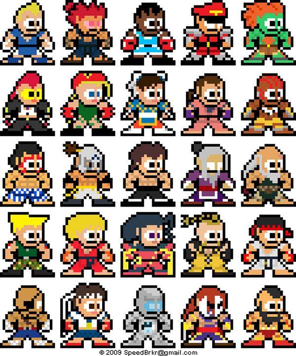 Mega Man Style Super Street Fighter IV Sprites