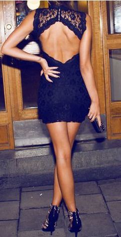 lace black dress little mini